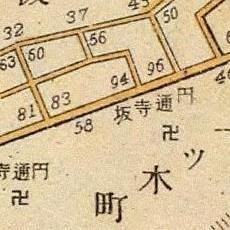 Etsuu Temple Rise map, 1905