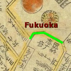 Fukuyoshi Rise map, 1858