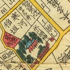 Hikawa Rise map, 1858