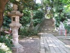 Hikawa Shrine, stairs