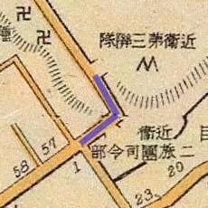 Sanpunzaka map, 1910