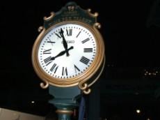 New York Harbor Street Clock