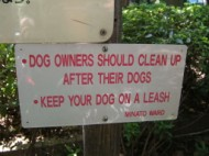 Dog owners should clean up