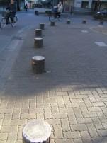 Tree stump bollards