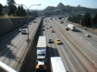 I-5 south from Yesler