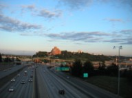 I-5 south sunset from Yesler