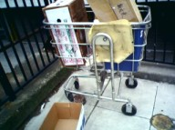shopping cart with Chinese boxes