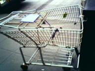 destroyed shopping cart