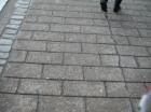 Concrete paver crosswalk