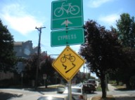 silly bike sign