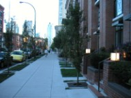 Yaletown sidewalks