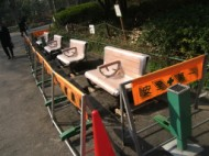 Shrine Shinjuku Central Park benches